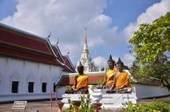Tres estatuas de Buda imagen de archivo
