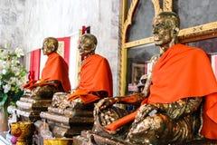 Tres estatuas de monje famoso Foto de archivo