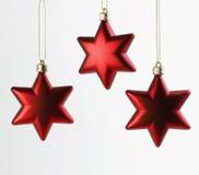 Tres estrellas de la Navidad Foto de archivo libre de regalías
