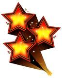 Tres estrellas de levantamiento Fotografía de archivo libre de regalías