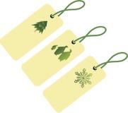 Tres etiquetas para la Navidad Imagen de archivo libre de regalías