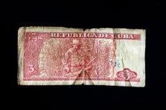 tres för republica för pesos för checuba de ernesto guevara Royaltyfri Foto