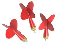 Tres flechas del dardo Foto de archivo