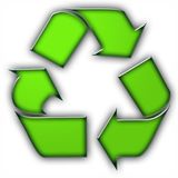 Tres flechas en color verde ilustración del vector
