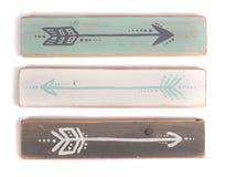 Tres flechas pintadas a mano Imagenes de archivo