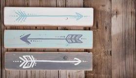 Tres flechas pintadas a mano Imagen de archivo libre de regalías