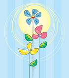 Tres flores Imagenes de archivo