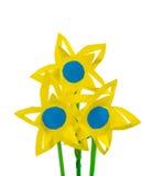 Tres flores de papel Fotografía de archivo libre de regalías