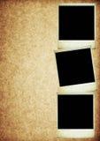 Tres fotos polaroid en vieja textura de papel de la vendimia ilustración del vector