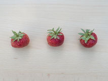 Tres fresas Foto de archivo