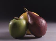 Tres frutas Imágenes de archivo libres de regalías