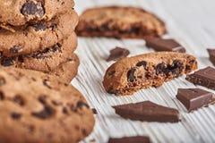 Tres galletas del chocolate Fotografía de archivo libre de regalías