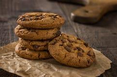 Tres galletas del chocolate imágenes de archivo libres de regalías