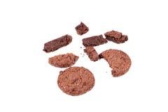 Tres galletas del chocolate Foto de archivo libre de regalías