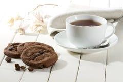 Tres galletas del chocolate Fotos de archivo