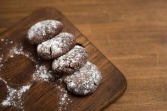 Tres galletas del chocolate Imagen de archivo libre de regalías