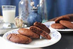 Tres galletas del chocolate foto de archivo