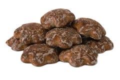 Tres galletas del chocolate Imagenes de archivo