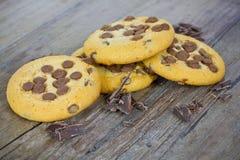 Tres galletas del chocolate fotos de archivo libres de regalías