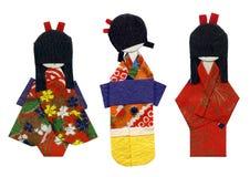 Tres geishas Imagen de archivo libre de regalías