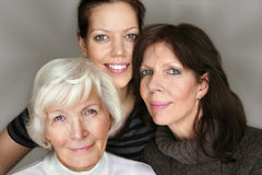 Tres generaciones Foto de archivo libre de regalías