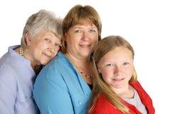 Tres generaciones de belleza Fotografía de archivo libre de regalías