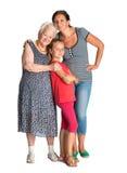 Tres generaciones de mujeres Imagen de archivo libre de regalías