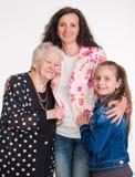 Tres generaciones de mujeres Imágenes de archivo libres de regalías