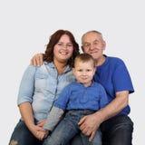Tres generaciones de una familia Fotografía de archivo libre de regalías