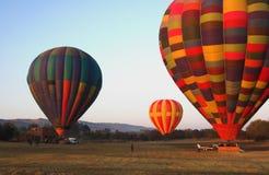 Tres globos del aire caliente Fotografía de archivo libre de regalías