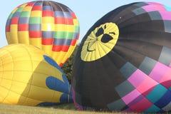 Tres globos del aire caliente Fotografía de archivo