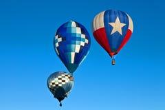 Tres globos del aire caliente Imagen de archivo libre de regalías