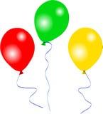Tres globos del partido Fotografía de archivo