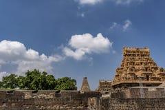 Tres Gopurams del templo grande, Thanjavur fotografía de archivo libre de regalías