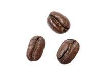 Tres granos de café Foto de archivo