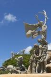 Tres grupos en la estatua de Raices Foto de archivo libre de regalías