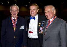 Tres héroes de Estados Unidos Fotos de archivo