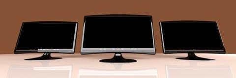 Tres HDTVs Imagen de archivo