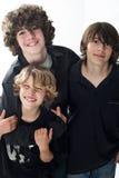 Tres hermanos Foto de archivo libre de regalías