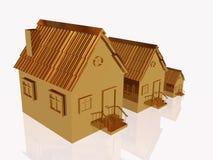 Tres hogares del oro stock de ilustración