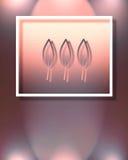 Tres hojas stock de ilustración