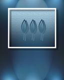 Tres hojas azules stock de ilustración
