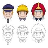 Tres hombres de las cabezas Imagen de archivo libre de regalías