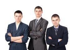 Tres hombres de negocios jovenes Imágenes de archivo libres de regalías
