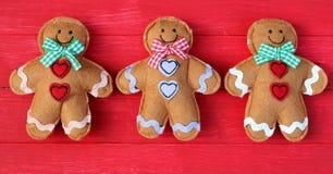 Tres hombres de pan de jengibre Foto de archivo libre de regalías