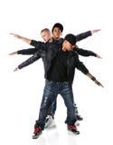 Tres hombres jovenes de Hip Hop Foto de archivo libre de regalías