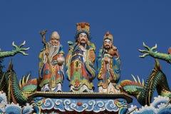 Tres hombres sabios en el templo Fotografía de archivo libre de regalías
