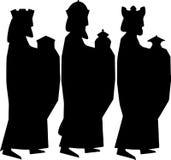 tres hombres sabios o tres reyes Ejemplo de la natividad Imagen de archivo libre de regalías