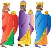 tres hombres sabios o tres reyes Ejemplo de la natividad Imagen de archivo