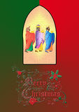 tres hombres sabios o tres reyes Ejemplo de la natividad Foto de archivo libre de regalías